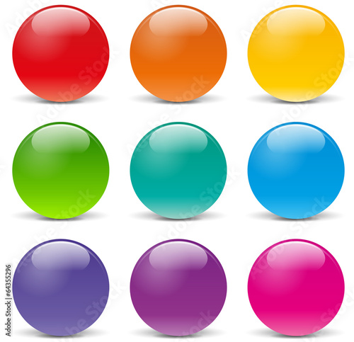 Photo Vector sphere icons