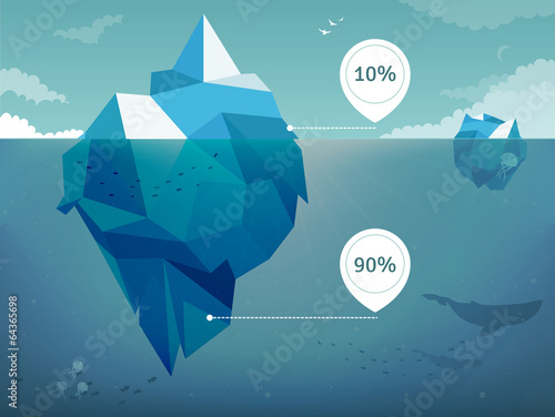 Fotografie, Tablou Iceberg  infographics