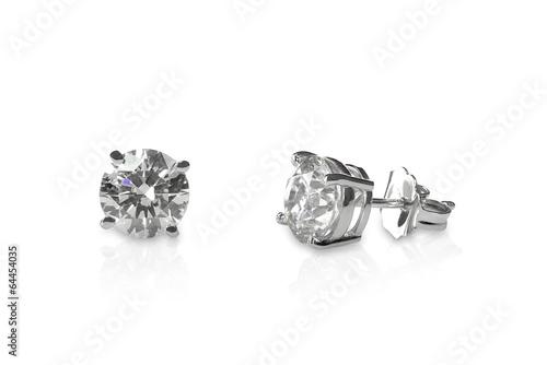 Beautiful Diamond stud earrings Fototapet