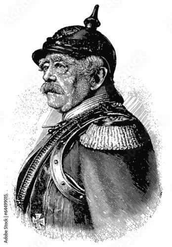 Portrait of a German statesman Otto von Bismarck. Poster Mural XXL