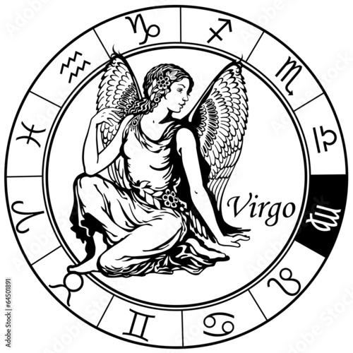 Fotografie, Obraz virgo zodiac black white