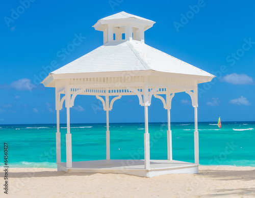 Wallpaper Mural wedding arch  on the beach of punta cana