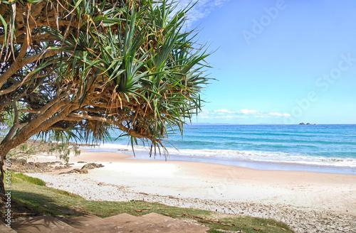 Canvas Print Watergoes Beach in Byron Bay in Australia