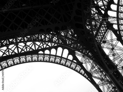 Low angle view of Eiffel Tower, Paris, France #64701074