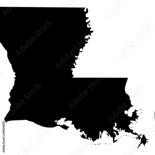 Fototapeta High detailed vector map - Louisiana.