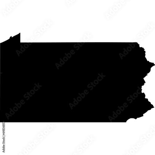 Fotografia High detailed vector map - Pennsylvania.