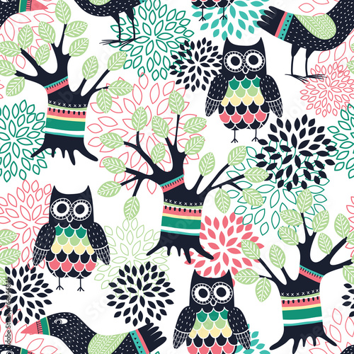 Forest seamless pattern
