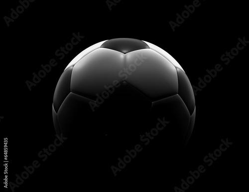 Fotomural Soccer ball on black background