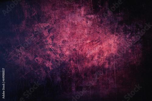 Naklejka premium Purpurowy grunge i porysowana metalowa tło struktura