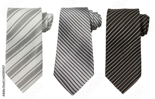 Tableau sur Toile Set of three ties isolated on white