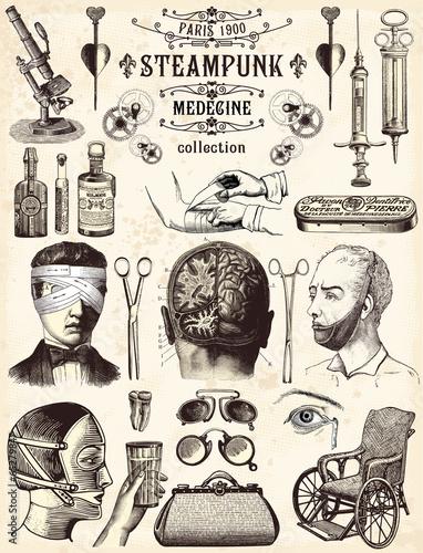 Steampunk Collection Médecine Fototapeta