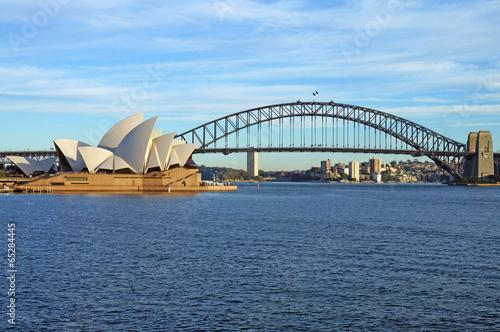 Canvas Print The Sydney Harbour Bridge and Opera House