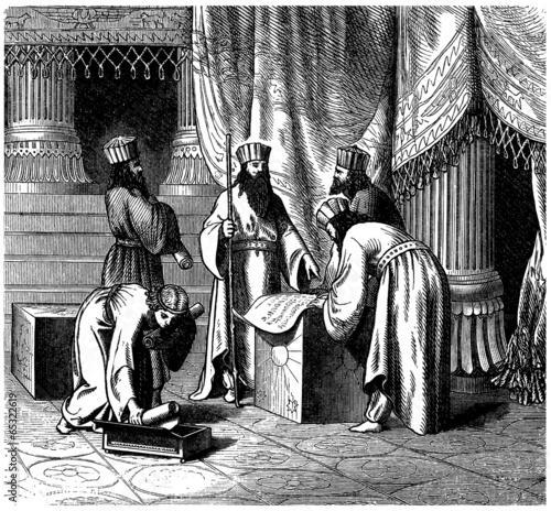 Fotografie, Tablou Ancient Persia / Assyria : Magicians / Priests