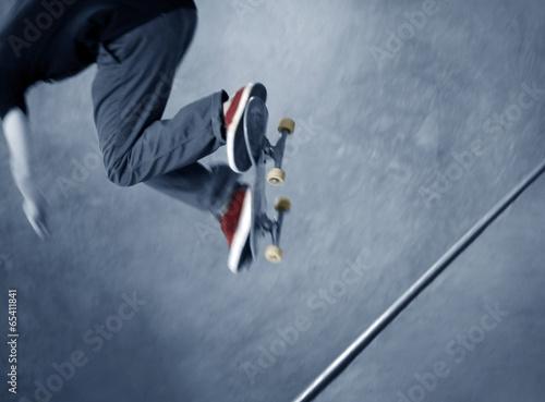 Wallpaper Mural Skateboarder doing a trick