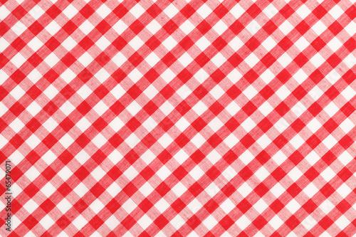 Canvas Print Checkered Table Cloth