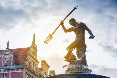 Fotografia Famous Neptune fountain, symbol of Gdansk, Poland