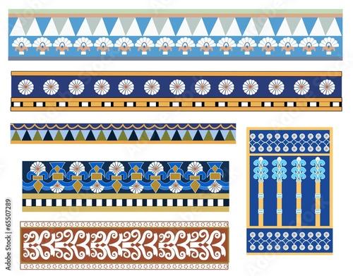 Cuadros en Lienzo Set of Babylonian patterns