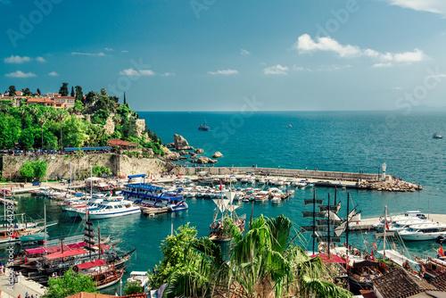 Fototapeta premium Port w Antalyi. indyk