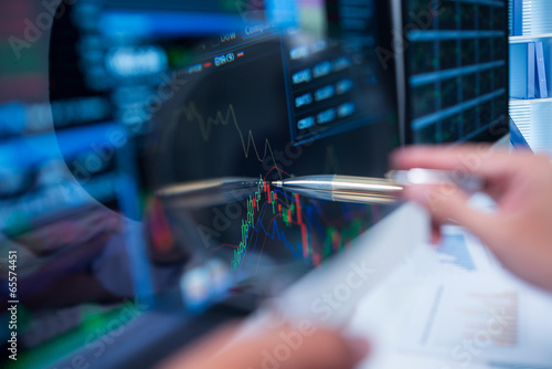 Fotografering Stock market graph