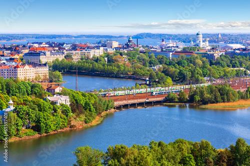 Wallpaper Mural Aerial panorama of Helsinki, Finland
