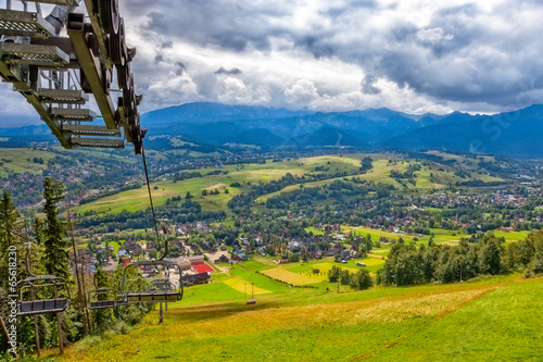 Scenic view of Tatras mountains in Poland.