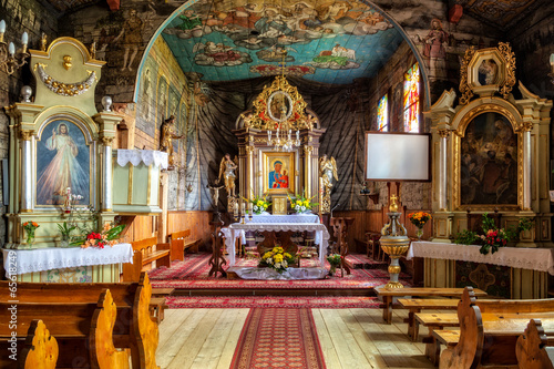Church interior of Sts. John the Apostle in Zakopane, Poland.