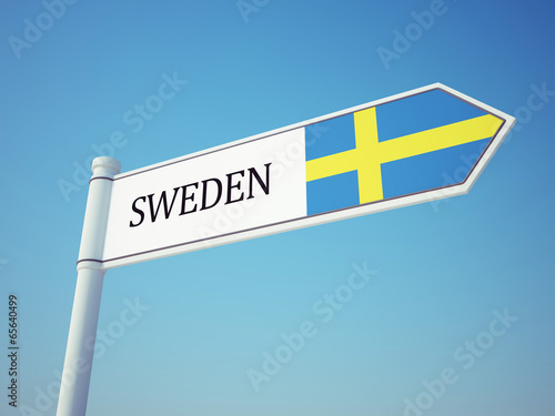 Wallpaper Mural Sweden Flag Sign