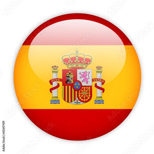 Wallpaper Mural Spain flag button