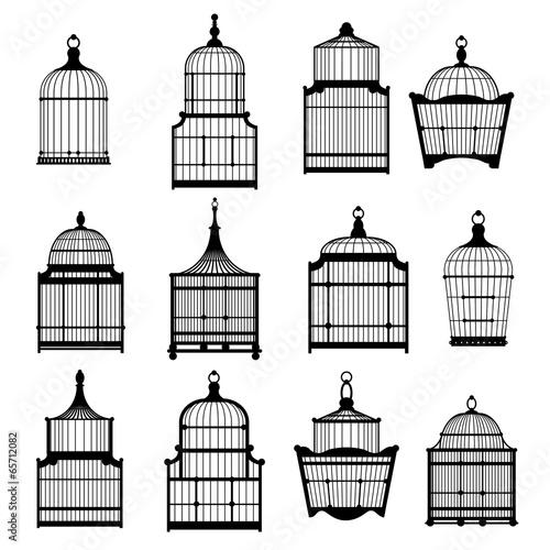 Tablou Canvas set birdcages collection