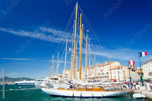 Fototapeta Plachetnice v St. Tropez
