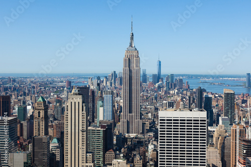 Canvas Print Aerial view of Manhattan  in New York - USA