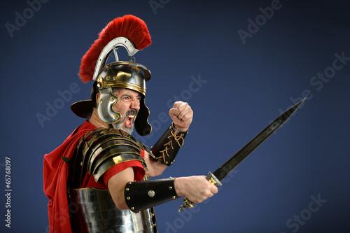 Obraz na plátně Roman Centurion Using Sword