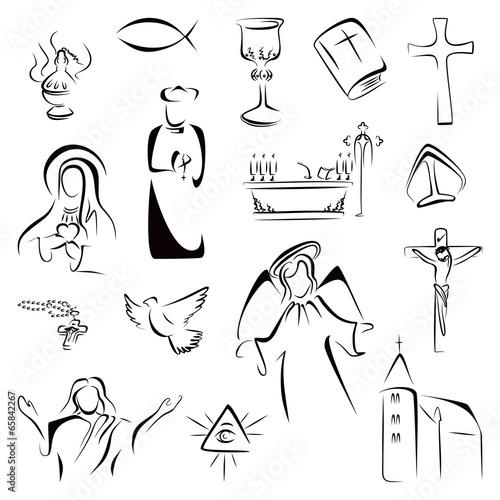 Religion icons Fototapeta