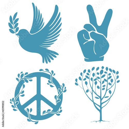 Fotomural Set of peace symbols