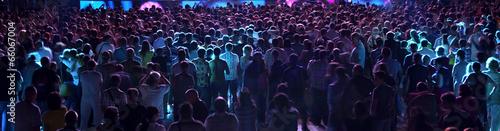 Obraz na płótnie crowd of people demonstrate