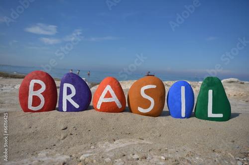 Brasil, souvenir on colored stones