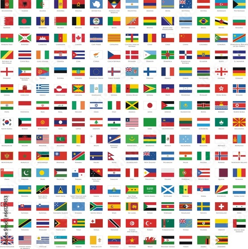 Obraz na płótnie drapeaux des pays