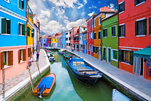 Wallpaper Mural Venice, Burano island canal