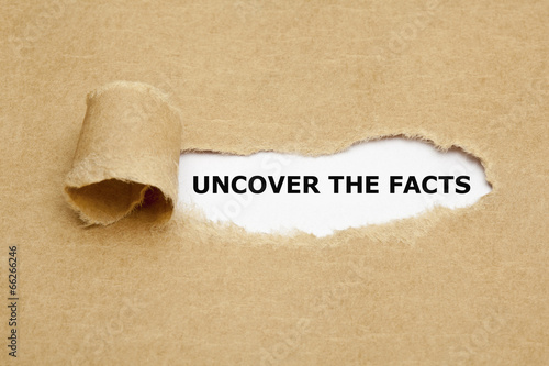 Uncover The Facts Concept Fototapet