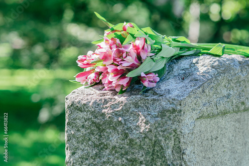 Fototapeta Headstone in Cemetery