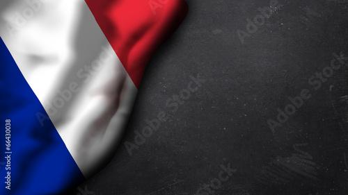 Photo französische Flagge auf Schiefertafel