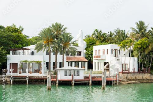 Obraz na plátne Luxurious mansion on Star Island in Miami