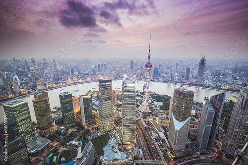 Wallpaper Mural Shanghai, China Aerial View