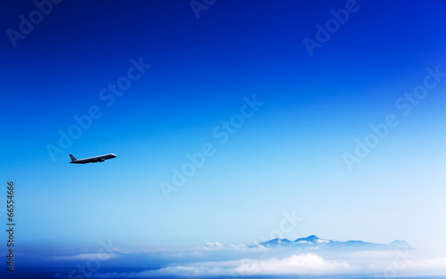 airliner in the stratosphere
