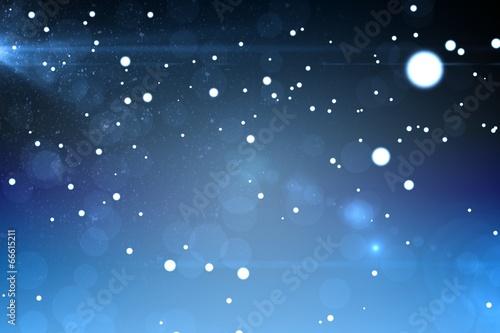 Starry dark blue night sky