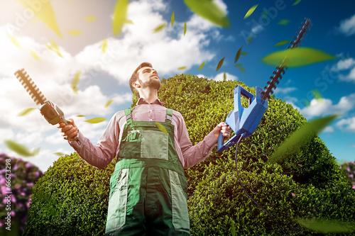 Obraz na plátne Gardening Master