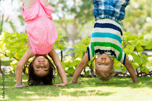 Handstand Fototapet