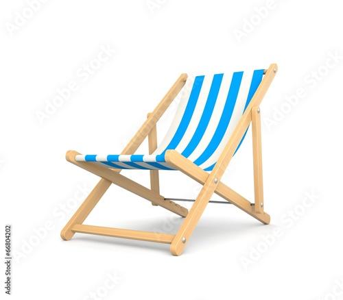 Canvas Print Deck chair
