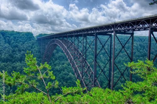 Obraz na płótnie West Virginia's New River Gorge bridge carrying US 19 over the g