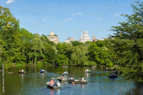 Stampa su Tela Central Park Lake in Manhattan, New York
